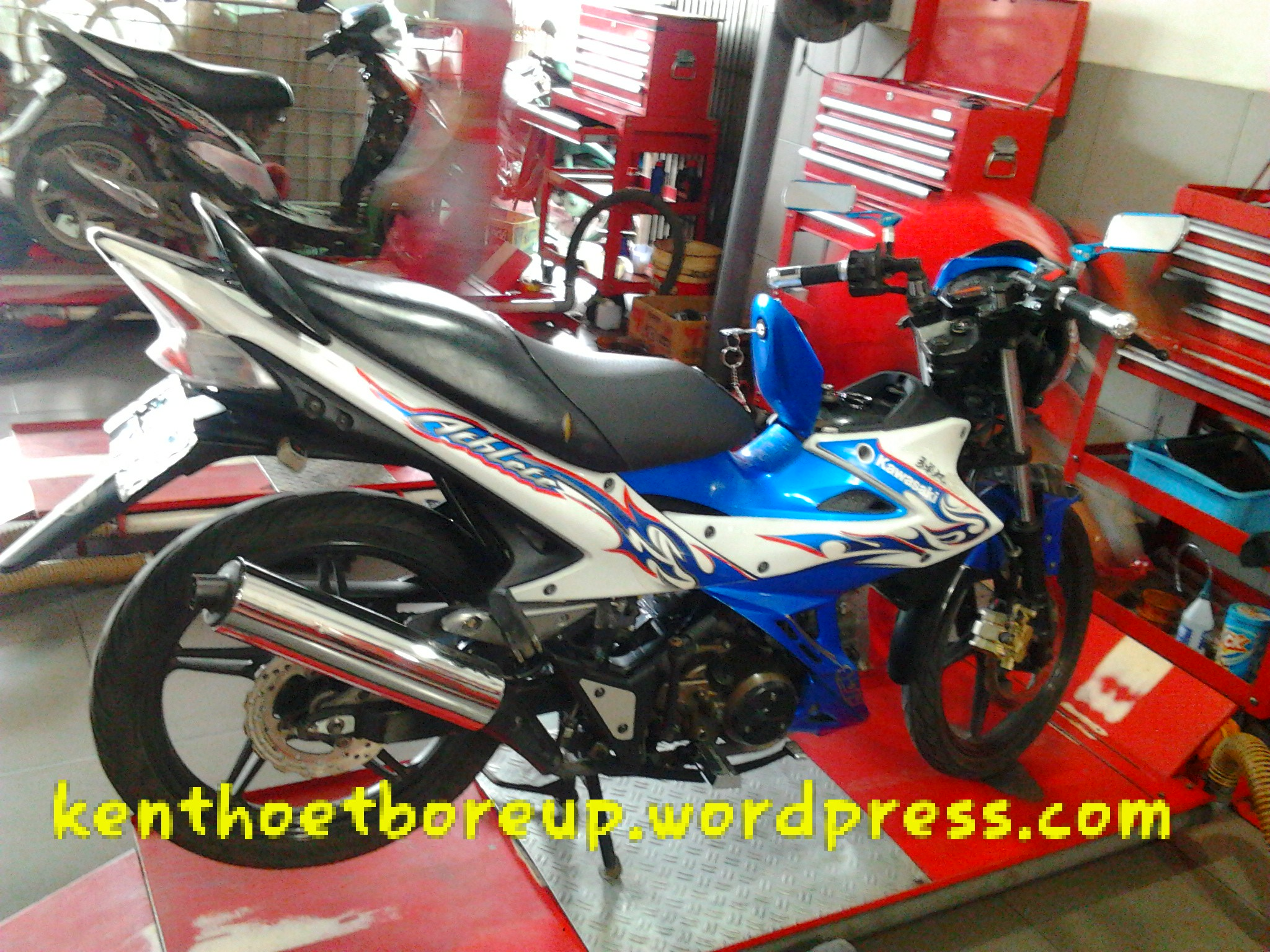 Kawasaki Athlete jadi Satria Fu why not